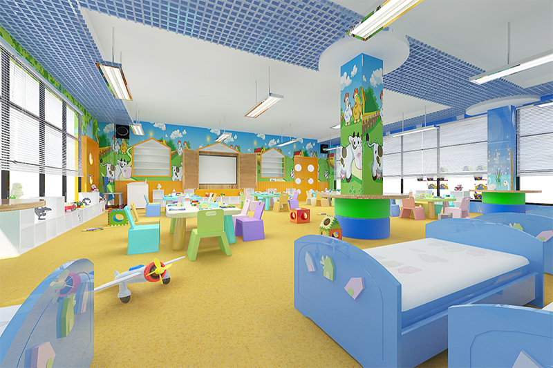 Why is plastic flooring for children popular?