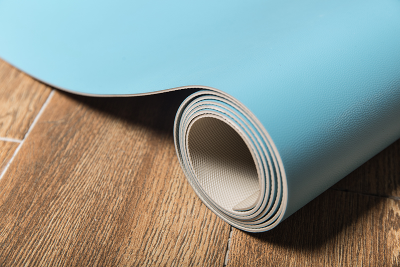 Fireproof PVC floor sky blue